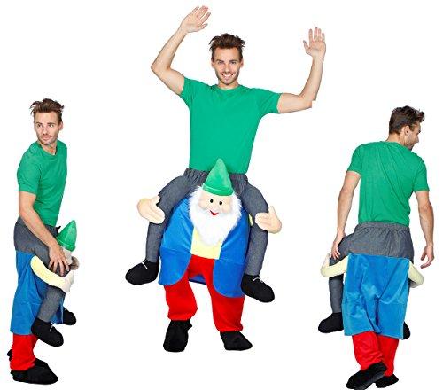 Huckepack Kostüm - Mann auf Klabautermann - Wilbers Gr. M/L - Hucke Pack Zwerg Huckepack
