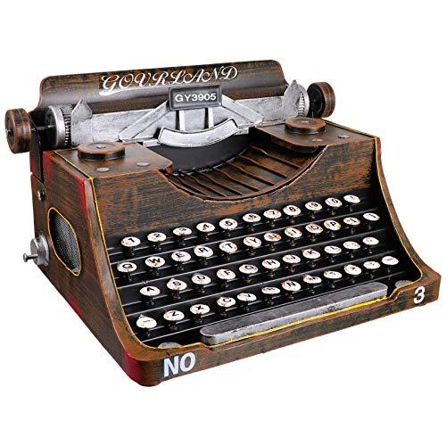 BESPORTBLE Vintage Máquina de Escribir Escritorio Decoración Vitrina Ornamentos Bar Prop Foto Antigua Accesorios Ventana Exhibición Ornamentos para Decoración de Mesa