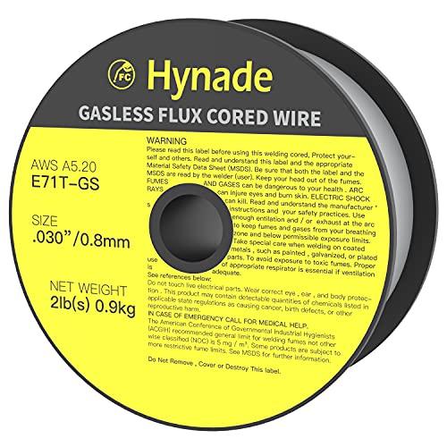 Flux Core Gasless Mig Wire, Mild Steel E71TGS 0.030 Inch Diameter, 2 lbs Mig Welding Spool (0.030 Inch 2 LBS)