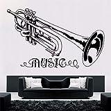 Trompete Musik Wandaufkleber Abnehmbare Musik Stil