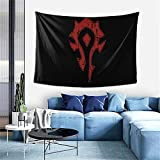 Wow Horde Distressed Tapestry Wall Hanging Tapestries As Wall Blanket Wall Art And Decoration For Bedroom Living Room Dorm 60x40 Inch