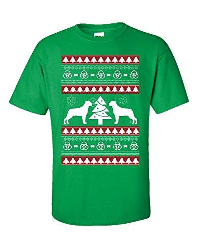 Ugly Christmas Sweater gran regalo para cualquier fan de perro Rottweiler–Adulto camiseta