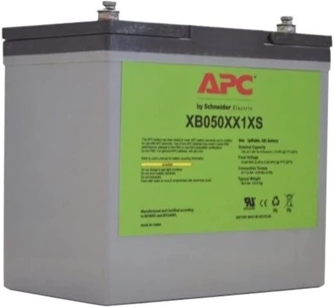 APC/Schneider Electric - XB050XX1XS - SecureUPS Battery 50Ah 12VDC Extended Temperature Shelf Mount