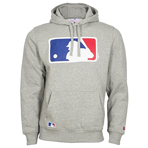 New Era Hoody - MLB Logo Baseball grau - XL