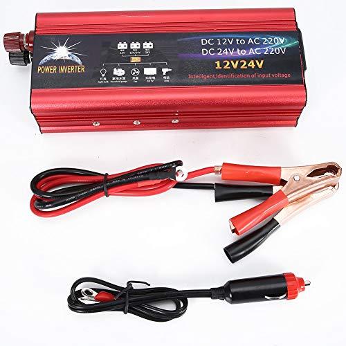 Fydun Power Inverter Universal 12V 24V Car Solar Power Inverter 6000W Inverter Converter 12V a 220V USB Cargador de coche