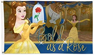 Wincraft Beauty and The Beast Disney Bold as a Rose Belle Flag 3 x 5 Foot