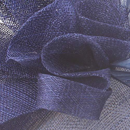 FHKGCD Banquete Cena Accesorios para La Cabeza con Diademas De Té De Fiesta Ocasión De Boda Sombreros De Mujer Tocado De Novia, Azul Marino,
