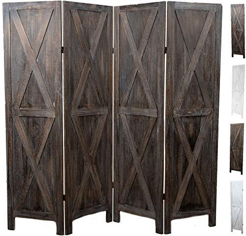 Premium Home Room Divider: Room dividers and Folding Privacy Screens, Privacy Screen, Partition Wall dividers for Rooms, Room Separator, Temporary Wall, Folding Screen, Rustic Barnwood (Barnwood X)