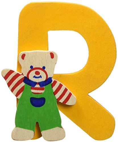 Bino Autocollant - Ours Lettre R - Coloris aléatoire