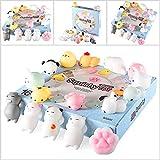 Zekpro Kawaii Squishy Toys (16-Pack) Cute Animal Slow Rising Squishies   Cats, Panda Bear, Pigs, Rabbits   Fun, Colorful, Non-Toxic Silicone   Girls, Boys, and Teens