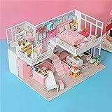 Maison de poupée Bricolage, kit de Meubles Miniatures en Bois Mini Maison de poupée, Meilleurs Cadeaux d'anniversaire pour Femmes et Filles