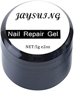 Crack Nail Repair Gel, 5 ML Nail Damage Repair Phototherapy Glue, Create A Clear Protective Layer On Nail Cracks, Boost Nail Recovery Speed, Prevent Injuries Infections