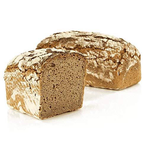 Vestakorn Handwerksbrot, Reines Roggenbrot 1kg - frisches Brot - 100% Roggen, Natursauerteig, selbst aufbacken in 10 Minuten
