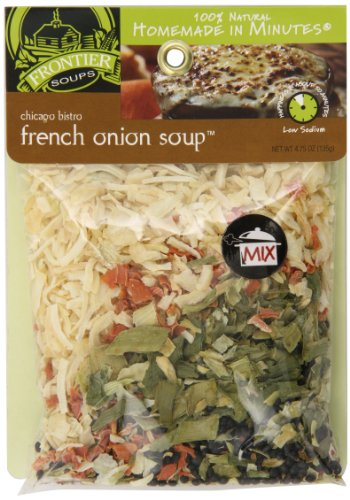 Frontier Soups Homemade In Minutes Soup Mix, Chicago Bistro French Onion, 4.75 Ounce