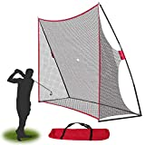 Smartxchoices Portable 10x7ft Large Golf Netting Golf Practice Net with Stand Frame & Carry Bag for Golf Driving Pitching Hitting Training, Backyard/Indoor/Outdoor
