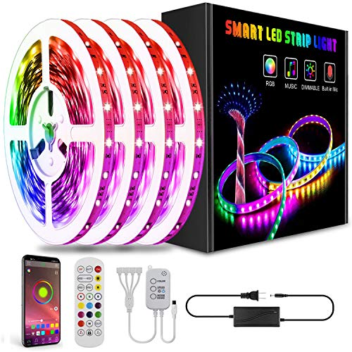 Led Lights Smart Led Strip Lights Ultra Long 65.6ft Music RGB