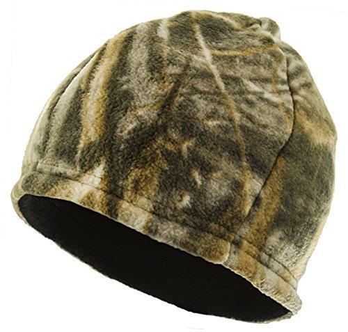 Equipment De Sport USA Zeek austatter Lizenzprodukt Camouflage reversibel Fleece-Beanie mit Polygiene, Realtree Max-5/Black