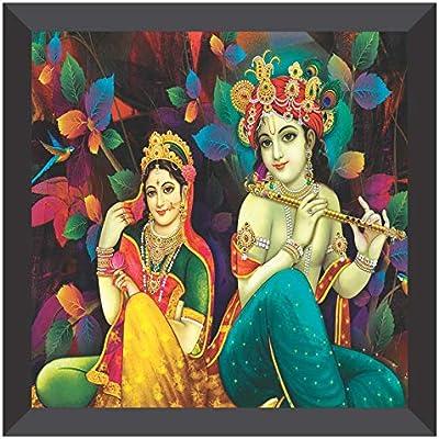 SAF UV Coated Radha Krishna Multieffect Digital Reprint Painting 12 inch X 12 inch SANF21006