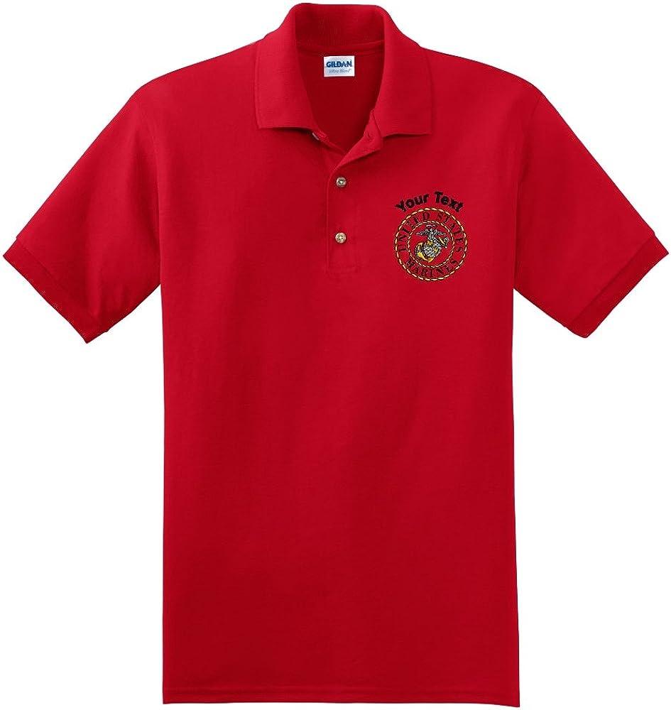 Personalized Custom Embroidered Marines Emblem Polo Shirt