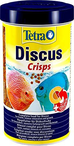 Tetra Discus Crisps - Fischfutter für alle Diskusfische, für Gesundheit, Wachstum und intensive Farbenpracht, 500 ml