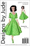 1950's Swing Doll Clothes Sewing Pattern for Silkstone Barbie Dolls