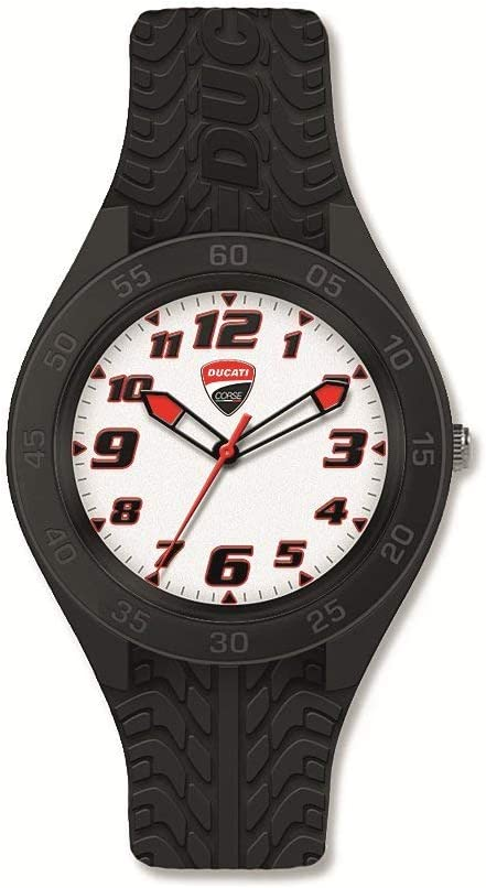 Ducati Grip Watch 人気の製品 セール特価品 with Silicone 987695051 Band