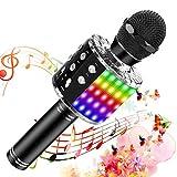 SunTop Micrófono Karaoke Bluetooth, Microfono Inalámbrico Karaoke, Portátil con Altavoz...