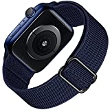 Supore Apple Watch Correa Compatible con Apple Watch 44mm 40mm 38mm 42mm 45mm 41mm, Pulseras de Repuesto de Nylon Correa para iWatch Series 7 6 5 4 3 2 1 / Apple Watch SE, Mujer y Hombre (Azul Marino)