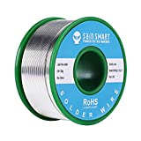 SainSmart 0.6mm Lead Free Solder Wire with Rosin2 Sn97 Cu0.7 Ag0.3, Tin Wire Solder for Electrical Soldering (100g /0.22lbs)