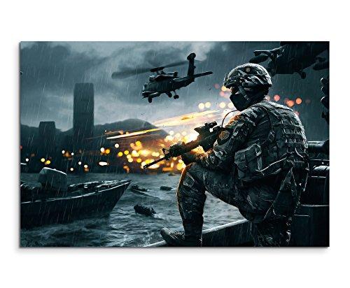 Gaming Bild 4 Siege of Shanghai Wandbild 120x80cm XXL Bilder und Kunstdrucke auf Leinwand