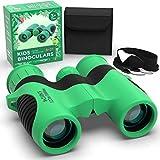 Rubber Kids Binoculars with Optical Lens 8x21 - Childrens Toy Binoculars High Resolution
