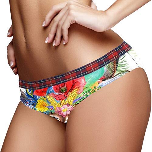 TIZORAX Bloem Hoofd Rendier Vrouwen Ondergoed Bikini Mode Dames Korte Broek