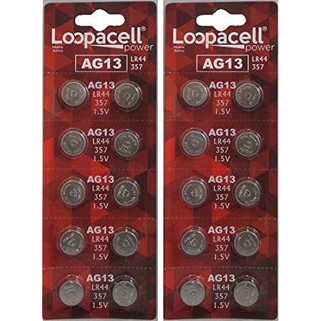 *** 40x AG13 LR44 Alkaline Led Technik Knopfzelle 357 V13GA 13GA V76PX SR44 G13a