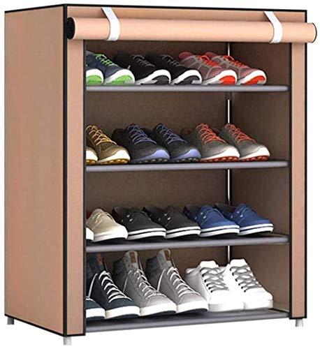 Ranuras de zapato ajustables Organizador Bastidore Paño del estante de zapatos a prueba de polvo Zapato grande de zapatos Bolsa de almacenamiento de zapatos para el hogar Dormitorio de zapatos Polvo d