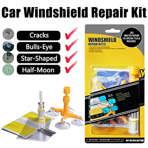 Manelord Auto Windschutzscheibe Reparaturset Werkzeug, Windshield Glass Repair Kit für PKW kleine Chips, bullauge, sternförmige halbmond