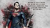 Póster con cita web Superman Man Of Steel Henry Cavill Movies Póster de 30,5 x 45,7 cm (Multicolor) W-3810