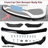 BETTERCLOUD Universal Front Bumper Lip Body Kit Spoiler Chin Spoiler PU Front Bumper Lip Fit for Honda Civic BMW Benz Mazda Ford Lexus