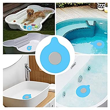 ZMunited Bathtub Drain Stopper Silicone Bath Tub Drain Stopper Plug Cover, Baby Bathtub Stopper, Universal Drain Stopper, Floor Drains and Kitchen Sinks For Kitchens, Bathrooms, Laundries Blue