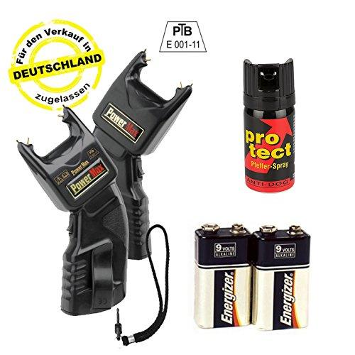 Elektroschocker 500.000 Volt inkl. Batterien & Pfefferspray - Mit PTB Zulassung