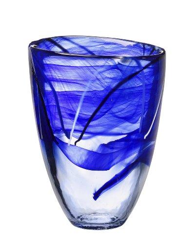 Kosta Boda Contrast Vase, Blue