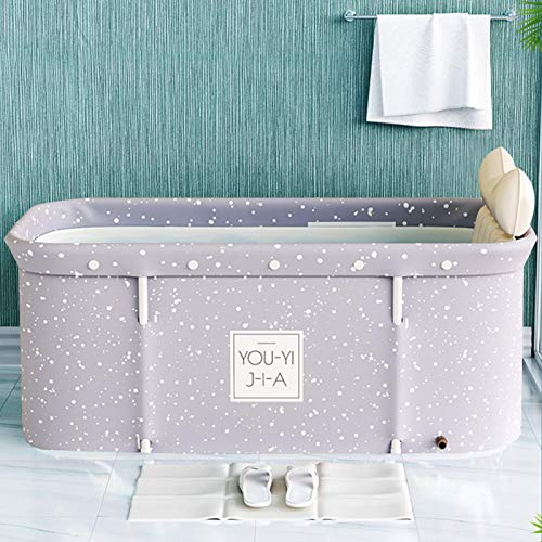 whiteswan Tragbare Badewanne Für Erwachsene, Portable Non-Inflatable Bathtub – Foldable Bathtub Made of PVC/SPA, Freestanding, Thick Foldable Bathtub Made of Plastic for Adults, Sauna Steam Bath