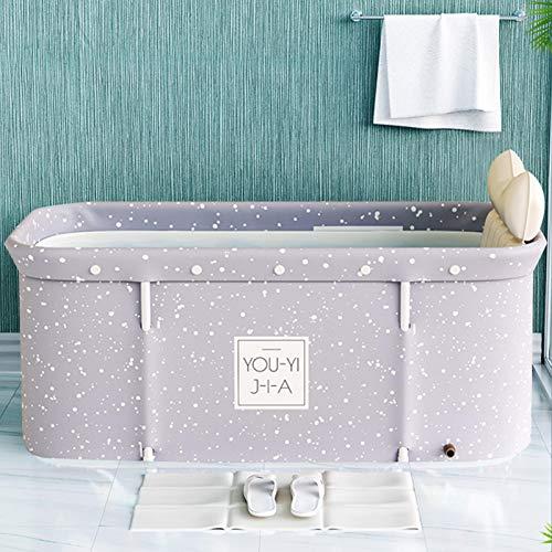 whiteswan Vasca da bagno portatile per adulti, portatile, non gonfiabile, realizzata in PVC/SPA, Freestanding, Thick Foldable Bathtub Made of Plastic for Adults, Sauna Steam Bath Bath