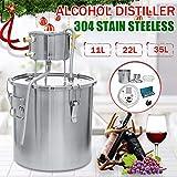 Xin Hai Yuan 12L / 22L / 36L Inoxidable Vino Alcohol Destilador Cerveza Alcohol Ilegal de Alcohol Bricolaje Home Brewing Kit Destilador Destilador Inoxidable Equipo,22L