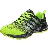 Wealsex Zapatos para Correr En Montaña Asfalto Aire Libre Deportes Zapatillas De Running para Hombre (43, Verde)