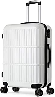 SMLCTY Small Suitcase,hand Luggage Suitcases Universal Wheel 4 Wheel Portable Password Box Large Capacity Travel Boarding (Color : White)