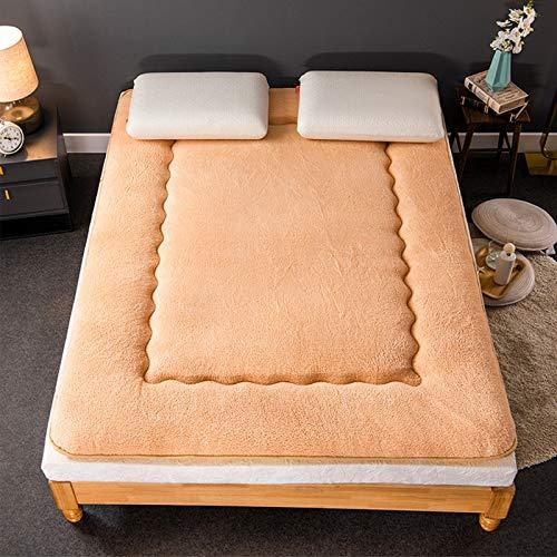 Thick Tatami Floor Mattress, Japanese Futon Mattress Folding Futon Mattress Sleeping Pad Tatami Mat,Bed Roll,Roll Up Mattress,Beige,120200cm
