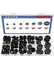 XTVTX 170st Firewall met rubberen doorvoertule Gaten Plug set Zwarte elektrische geleider Pakking Ring Set voor stekker en kabel: muur gat Elektrisch apparaat Automotive sanitair