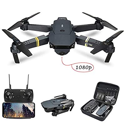 Vavshop Drone with Camera for Adults, E58 Drone with 1080P 5.0MP Camera for Kids Beginners, FPV, WIFI, APP Control, Altitude Hold Foldable WIFI RC Quadcopter Drone Aircraft (Gray, OneSize)