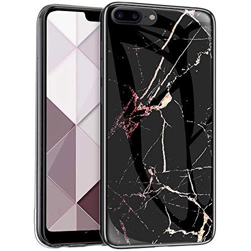 Surakey Funda para iPhone 8 Plus/iPhone 7 Plus, diseño de mármol, parte...