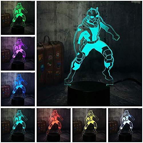 Luz Fantasma 3D Nueva Novedad cómic de Marvel héroe llevó la lámpara de Escritorio 7 Cambiar el Color Home Bar Niño Regalo del Muchacho del niño Luz de Noche LED para niños
